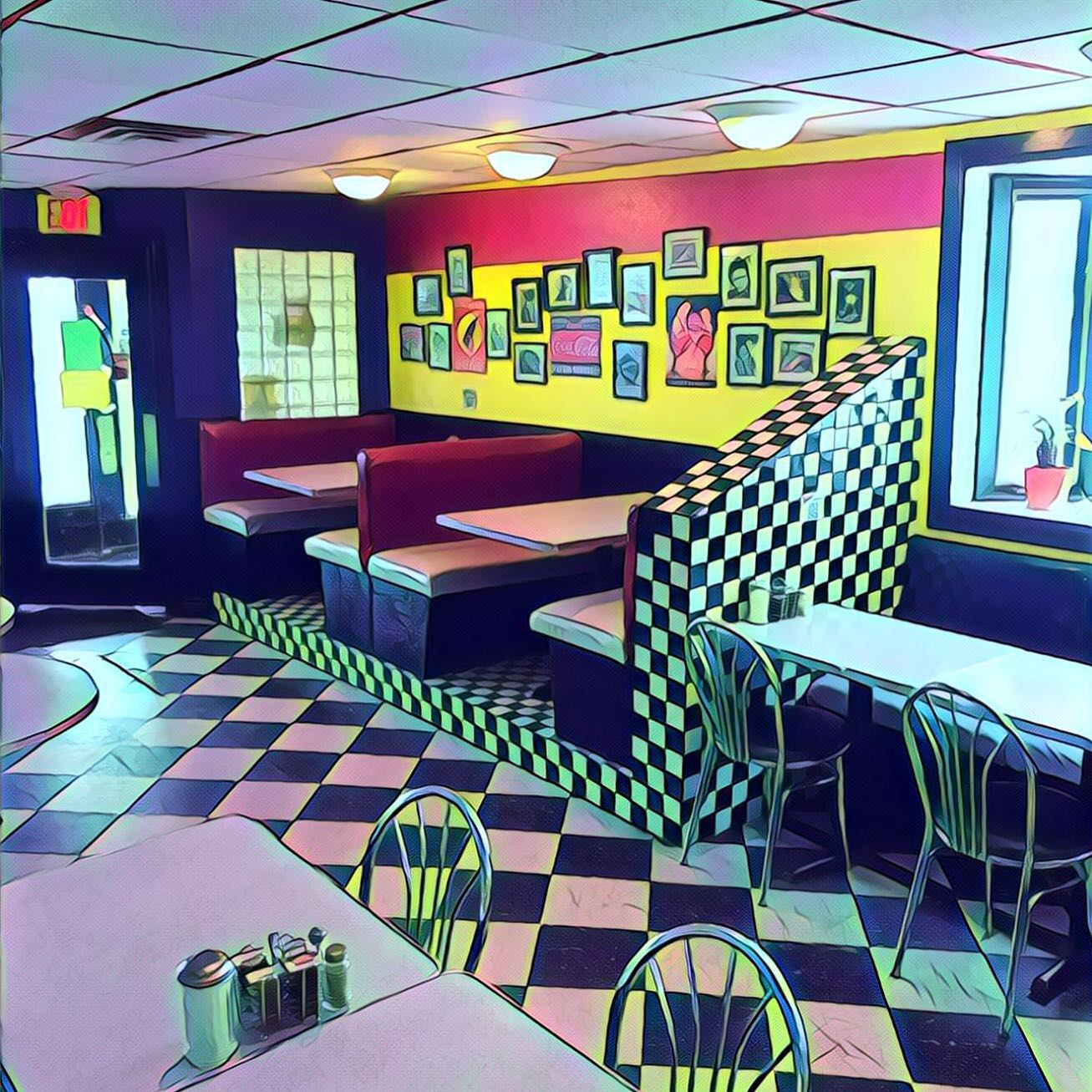 Midway Diner dining room